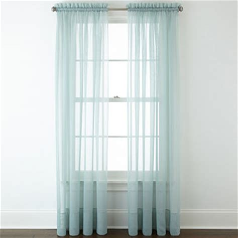 jcpenney sheer curtain rods jcpenney liz claiborne 174 lisette rod pocket sheer panel