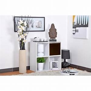 Meuble De Rangement Case : meuble de rangement 4 cases malt 61cm blanc ~ Teatrodelosmanantiales.com Idées de Décoration