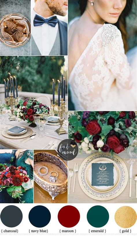 navy blue wedding color schemes navy blue and maroon for a autumn wedding