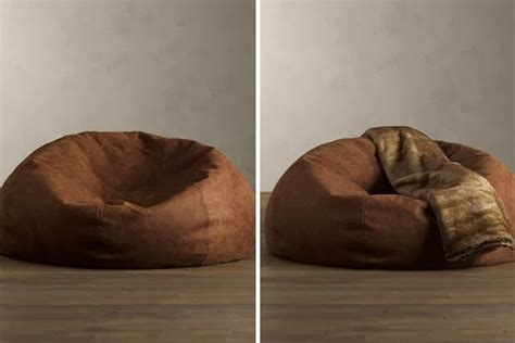 distressed leather bean bag chair mens gear