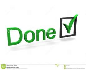 Completed Check Mark Done