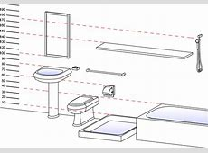 Sanitary ware and accessories Standard heights