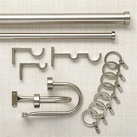 matte nickel curtain hardware crate and barrel