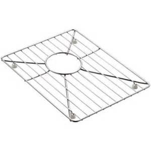 kohler 8 degree stainless steel bottom basin sink rack k