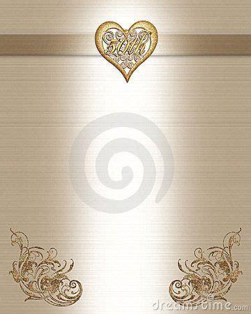 50th Anniversary Invitation Gold 50th anniversary