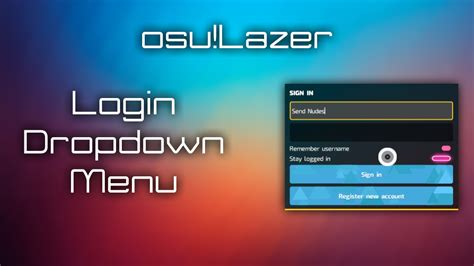 [osu!lazer News] Login Dropdown Menu (outdated)