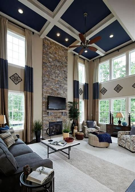 Painting Living Room High Ceilings by 26 Blue Living Room Ideas Interior Design Pictures
