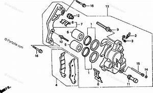 Honda Motorcycle 1999 Oem Parts Diagram For Front Brake