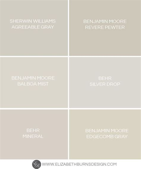 the shades of greige paint color