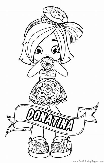 Shopkins Shoppies Coloring Dolls Pages Shoppie Doll