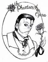 Phantom Opera Coloring Colouring Printable Getcolorings Medallion Artwanted sketch template