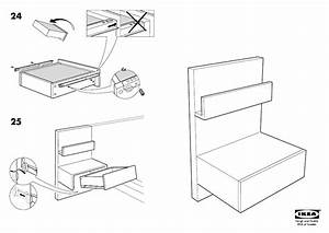Ikea Malm Bedside Table 20x16 U0026quot  Assembly Instruction