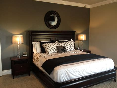 black painted bedroom grey accent wall with black and white bedding lamps 10867 | 59bc28ff971ba7933c0e41230e194ce5