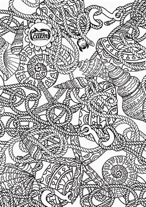 nautical coloring page zentangles adult colouring