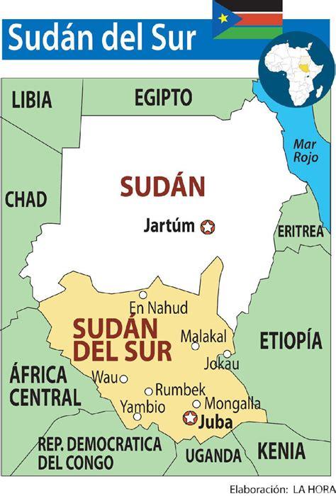 Sudán Del Sur - Mapa de las Provincias