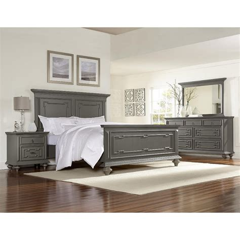 gray bedroom set asher gray 6 bedroom set