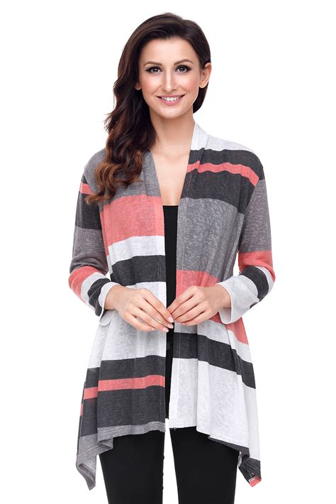 Cheap Mauve And Taupe Shawl Neck Colorblock Long Sleeve