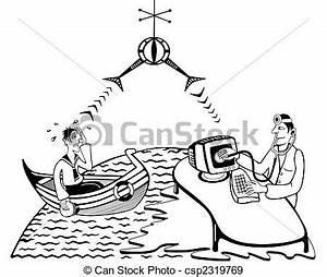 Stock Illustration of Telemedicine - distant doctor ...