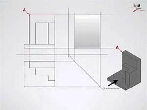 Technische Zeichnung Ansichten : technisches zeichnen 3 ansichten seitenansicht erstellen youtube ~ Yasmunasinghe.com Haus und Dekorationen