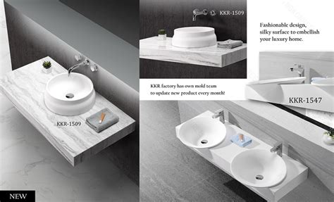 Table Top Wash Basin / Bathroom Sinks With Two Faucets