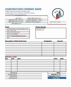 invoice for construction work hardhostinfo With construction job invoice template