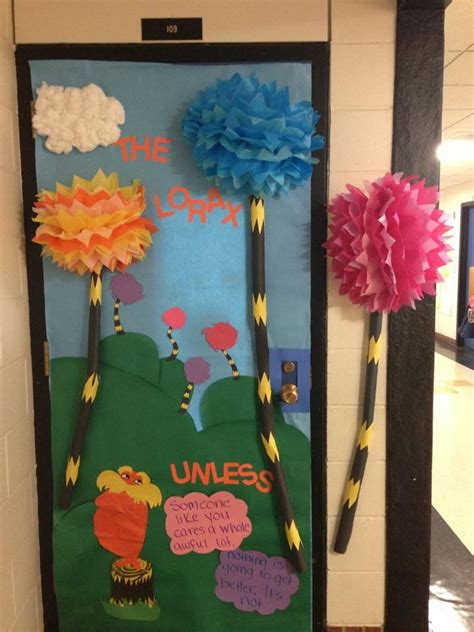Dr Seuss Door Decorating Contest Ideas by The Lorax Themed Door I Created For Read Across America Dr