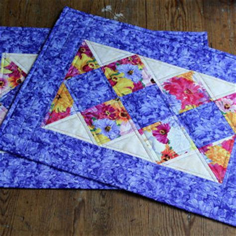 quilted placemat patterns best floral quilted placemats products on wanelo