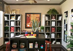 home office hobby room With interior decorating hobby