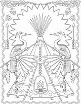 Coloring Pages Native American Designs Colouring Creative Sheets Dover Fall Pattern Books Haven Doverpublications Adult Printable Patterns Publications Sample Animal sketch template