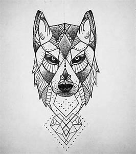 Tatouage Loup Geometrique : dessin tatouage 20 id es avant de vous lancer ~ Melissatoandfro.com Idées de Décoration