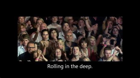 Adele Rolling In The Deep Lyrics  Live At Royal Albert