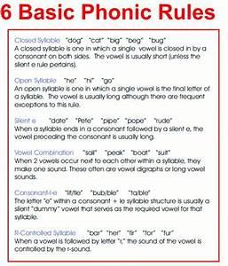6 Basic Phonics Rules Og Clover Pinterest Parents