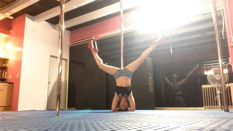 Pole Dance First Try Inch Heels Youtube