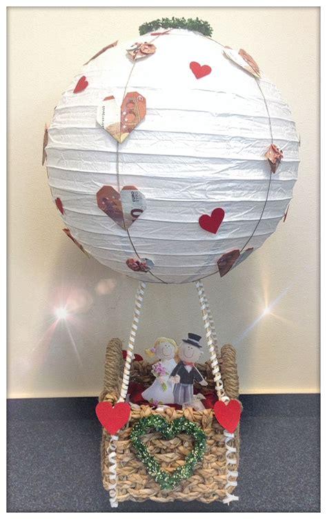 geschenk hochzeit heissluftballon geschenke pinterest