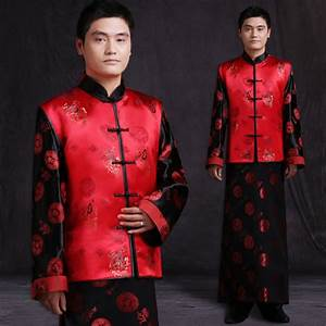 Aliexpress.com  Buy Mens male red Chinese style ancient costume groom dress jacket long gown ...