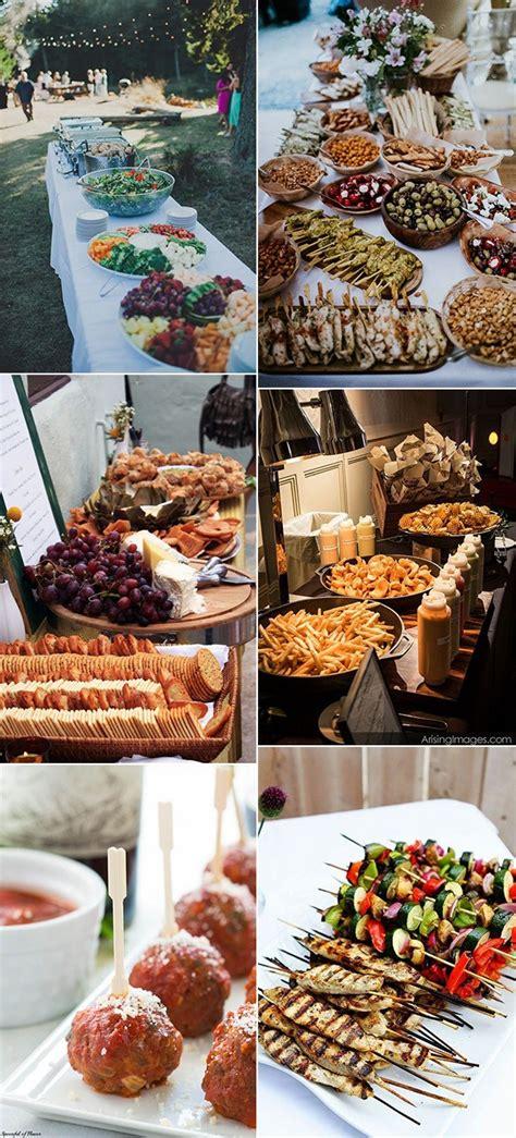 wedding food ideas  guests  love