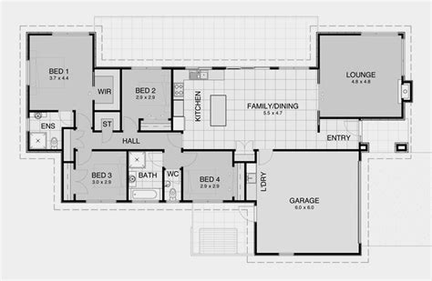 simple house floor plans impressive simple open house plans 6 simple 3 bedroom house floor plans smalltowndjs