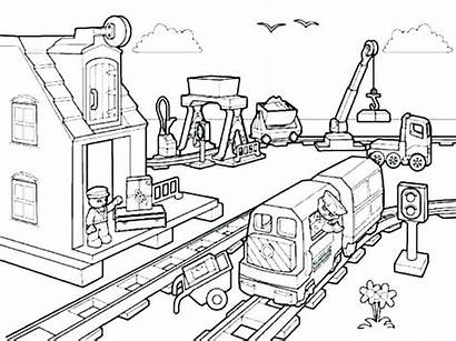 Construction Coloring Site Pages Printable Getcolorings Colorin