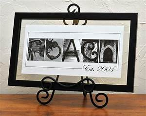 unique wedding gift personalized alphabet name frame With name frames from letter pictures