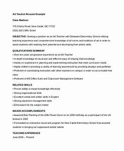 teacher resume 9 free sample example format free With art teacher resume template
