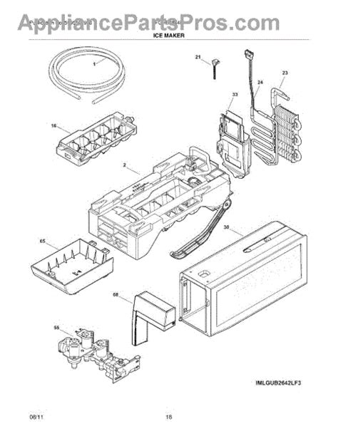 Parts For Frigidaire Fghblf Ice Maker