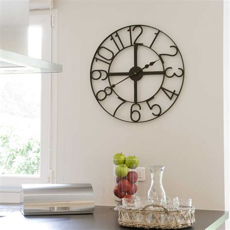 pendule murale cuisine enchanteur grande horloge murale design galerie et grande