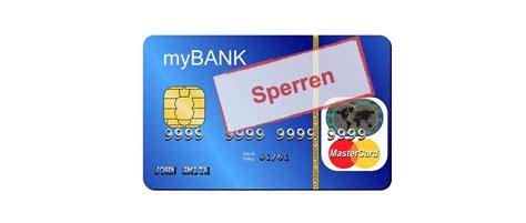 karte sperren sperrnummern fuer ec und kreditkarten im