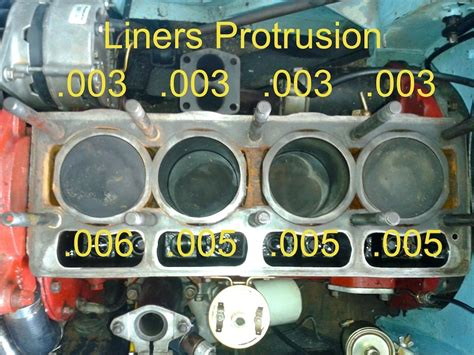 cylinder liner protrusion  issues general tr