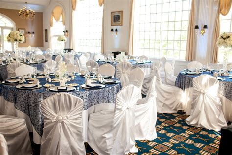 blue and silver wedding decor michigan wedding planners purple clover events