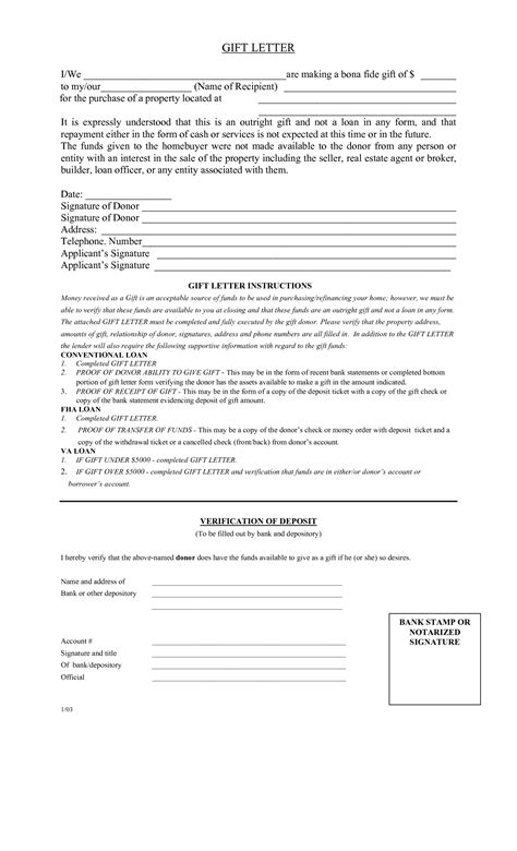 mortgage gift letter gift letter sle template resume builder