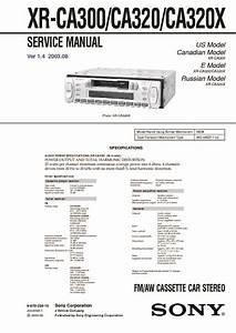 Sony Xr-ca300  Xr-l200 Service Manual