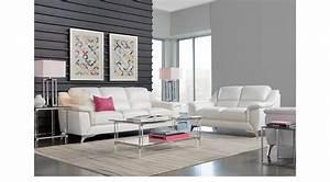 1, 488, 00, -, Calavino, White, Leather, 2, Pc, Living, Room, -, Classic