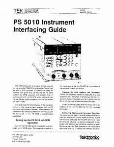 Tektronix Ps5010 3x Power Supply Interfacing Guide 1983 Sm