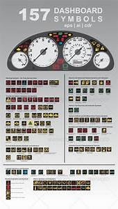 157 Dashboard Symbols  Graphicriver A Dashboard  Also